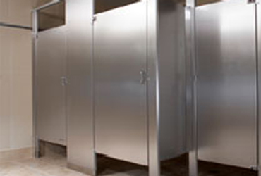 Eastern partitions bathroom partitions hand dryers for Stainless steel bathroom partitions
